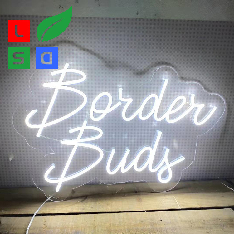 Clear Contour Backing Neon Signs For Business Single Color Small Neon Bar Signs